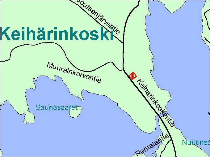 Viitasaari Keihärinkoski kartta