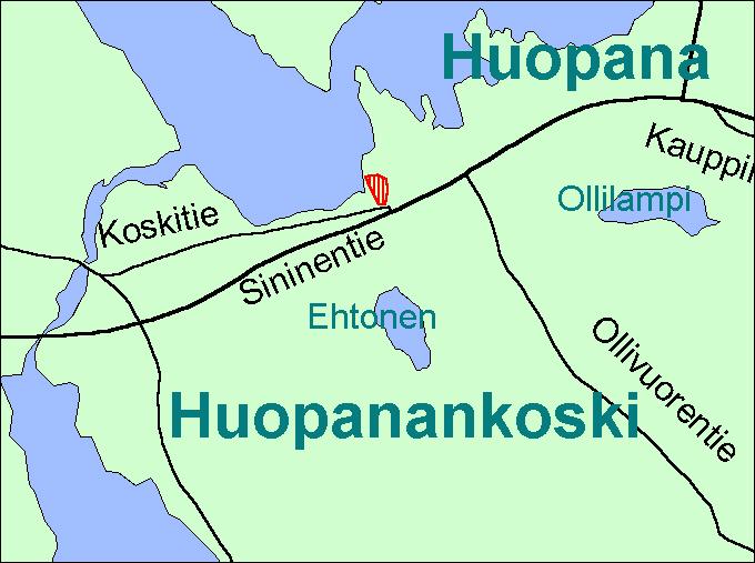 Viitasaari Huopanankoski kartta